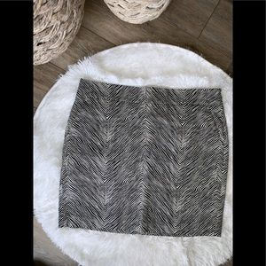 Ann Taylor Madison pencil Skirt, zebra print, 12
